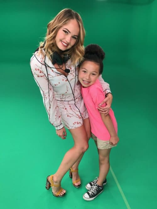 Debby Ryan & Meilee Condron on the set of Q Wunder Season 2.